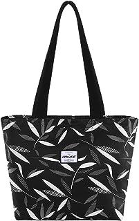 HAWEE Waterproof Tote Bag with Zipper for Women Girls Inside Mesh Pocket Heavy Duty Casual Cloth Shoulder Handbag Outdoors