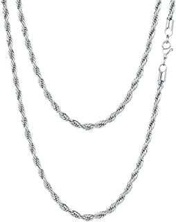Aokarry Chains for Mens 316L Stainless Steel Curb Chain Necklace for Men