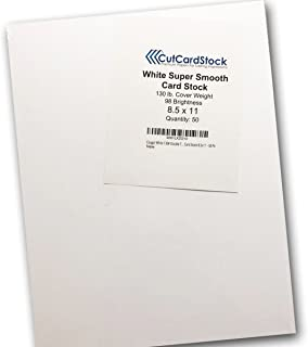 Cougar White 130# Double Thick Card Stock 8.5x11 - 50 Pk