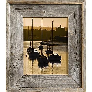 MyBarnwoodFrames- Lighthouse Series Reclaimed Barnwood 16x20  Picture Frame (2.75 Inch Frame Width)