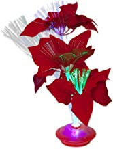 Bits and Pieces - Holiday Fiber Optic Light-up Flower - Christmas Décor