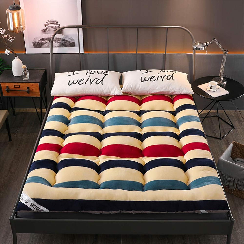 Thicken Japanese Floor Futon Mattress, Sleeping Tatami Bed roll Mattress Topper Pad for Living Room Dorm Student-G 200x220cm(79x87inch)