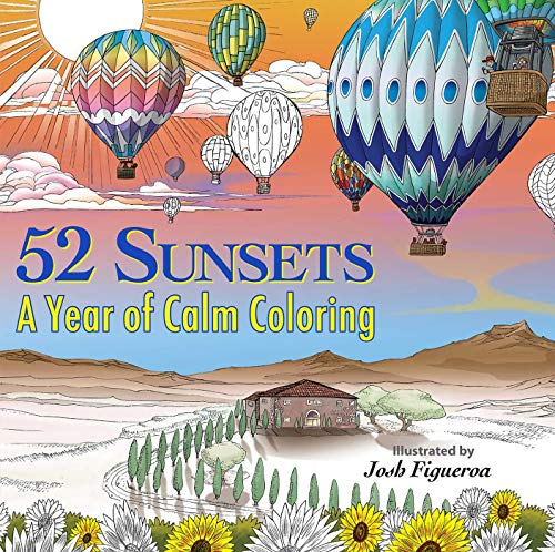 52 Sunsets: A Year of Calm Coloring (Colouring Books)