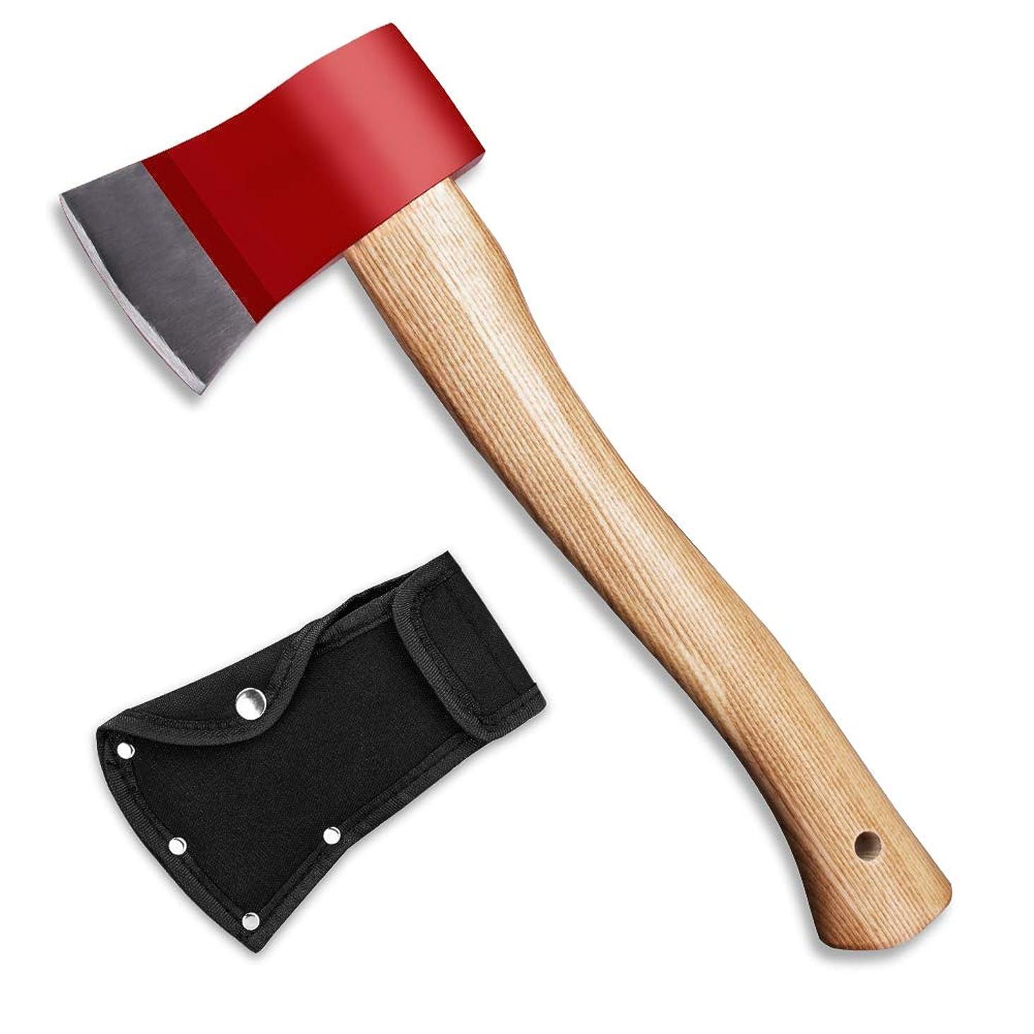 メンタリティ固体振るう斧 Lifinsky 薪割り手斧 鉈 アウトドア用品 研ぎが必要 キャンプ用品 釣り 山歩き 保護ケース付き