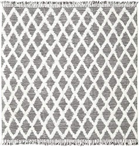 RugVista Inez - Schwarz/Weiß Teppich 250x250 Moderner, Quadratisch Teppich