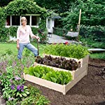 YAHEETECH 3 Tier Raised Garden Bed Wooden Elevated Garden Bed Kit for Vegetables Outdoor Indoor Solid Wood 49 x 49 x 21… 13 Useful & Practical – With this helpful planter, you can cultivate plants like vegetable, flowers, herbs in your patio, yard, garden and greenhouse, and make them more convenient to manage. 3 TIERS DESIGN: This elevated planter provides 3 growing areas for different plants or planting methods. Each tier is connected with wood plugs, which allows this 3-tier garden bed to be easily transformed into 3 single separate growing beds in different sizes if needed. Customizable design – This elevated planter provides 3 growing areas for different plants or planting methods. Each tier is connected with wood plugs, which allows this 3-tier garden bed to be easily transformed into 3 separate growing beds in different sizes if needed.