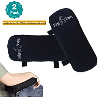 Big Ant Memory Foam Office Chair Armrest Pads,Comfy Soft Chair Arm Rest Cushion Covers for Elbows and Forearms Pressure Relief(Set of 2)
