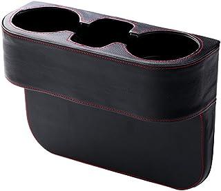 LKXHarleya Multifunktions Auto Leder Lagerung Becherhalter Wasserflasche Frischhaltedose Auto GeträNkehalter GroßE KapazitäT Aufbewahrungsbox