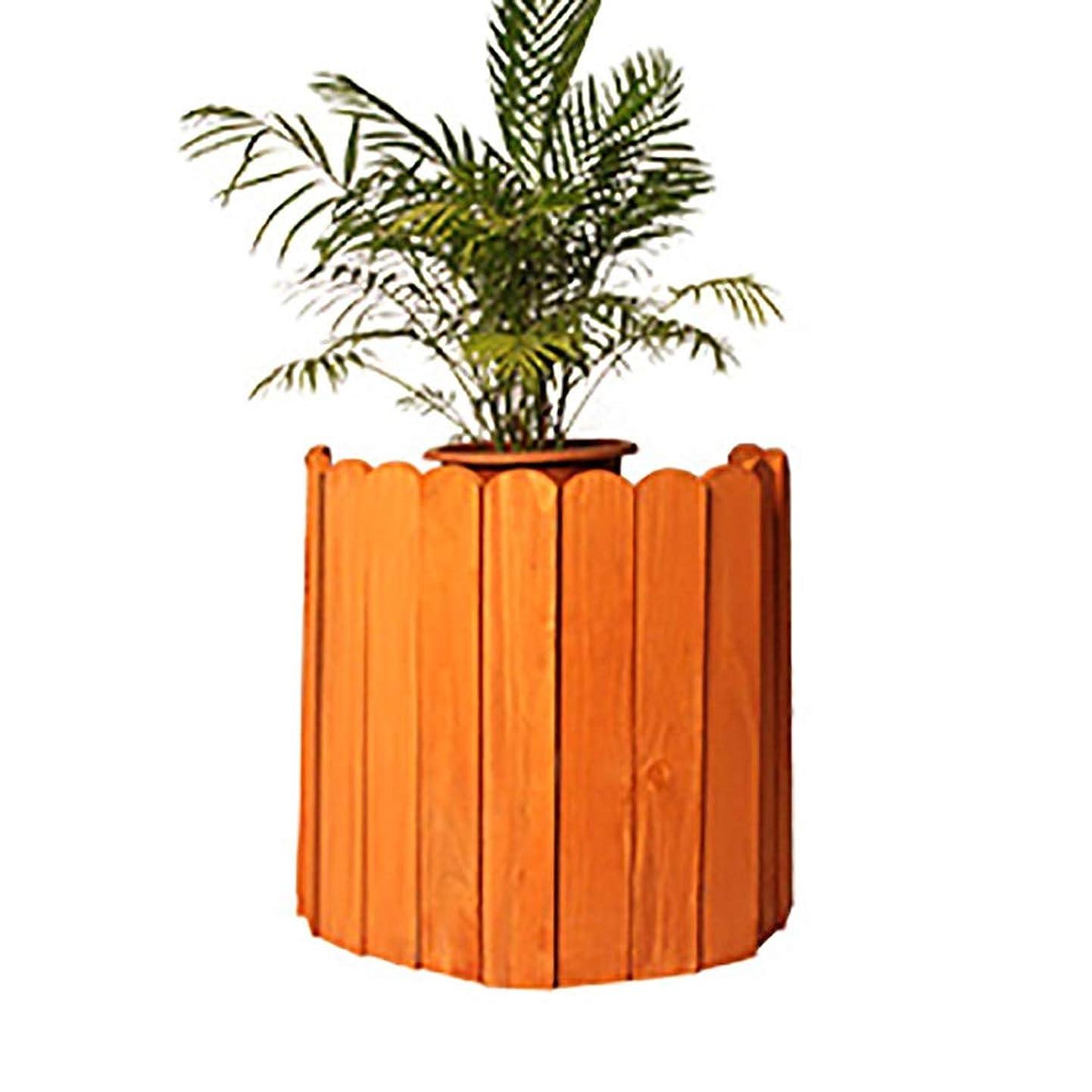 SUBBYE 大型木製ピケットフェンシングパネル-ガーデンフェンス国境インスタントフェンスカントリーコーナーガーデン作品、オレンジ、長さ39インチ、5サイズ (Color : 100×40cm)