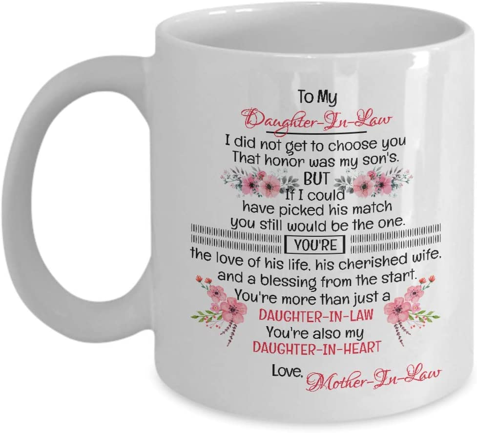 To My Mother-In-Law, Novelty Ceramic Coffee Mug, Valentine, Christmas,  Mother-In-Law Gifts, Mother In Law Gift From Daughter, Birthday Gift -  Walmart.com - Walmart.com