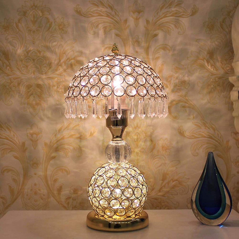 Kristall Tischlampe, Nachttischlampe Lesen Tischlampe Dimmen Kristall Tischlampe Wohnzimmer Schlafzimmer Studie Luxus High-End-Tischlampe (Gold) (Edition   Dimming switch)