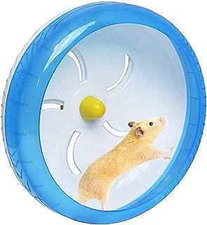 POPETPOP Silent Hamster Wheel-Pets Running Sports Exercise Wheel Jogging Wheel Hamster Rat Gerbil Silent Spinner(Blue)