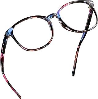 LifeArt Blue Light Blocking Glasses, Anti Eyestrain, Computer Reading Glasses, Gaming Glasses, TV Glasses for Women Men, Anti UV, Anti Glare (Floral, No Magnification)