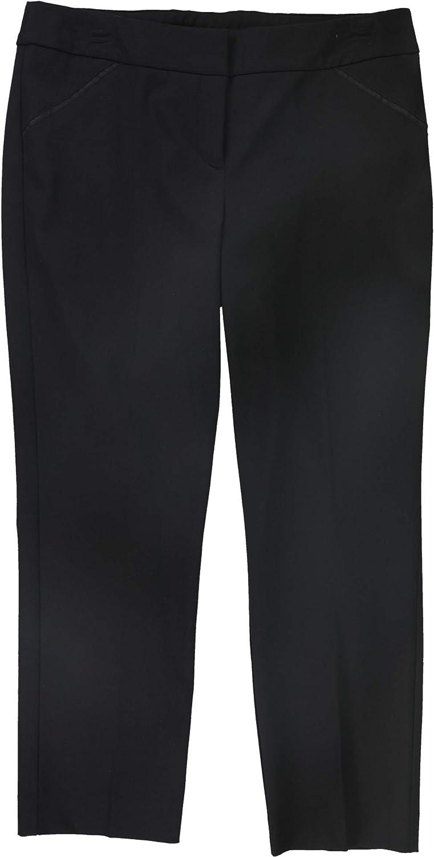 Alfani Womens Black Zippered Capri Wear to Work Pants Size 14