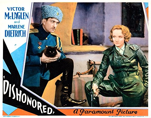 Price comparison product image Posterazzi Dishonored Lobbycard from Left: Victor Mclaglen Marlene Dietrich 1931 Movie Masterprint Poster Print,  (14 x 11)
