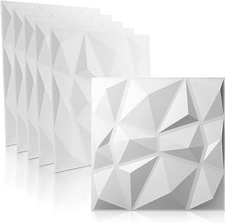 WANEELL - 3D Wandpaneele Diamond Design - 12x 50cm x 50cm Wandplatten ( 3qm ) - Hochwertige PVC Paneele ideal für die Gami...