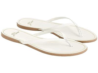 J.Crew New Capri Leather Flip-Flop (White) Women