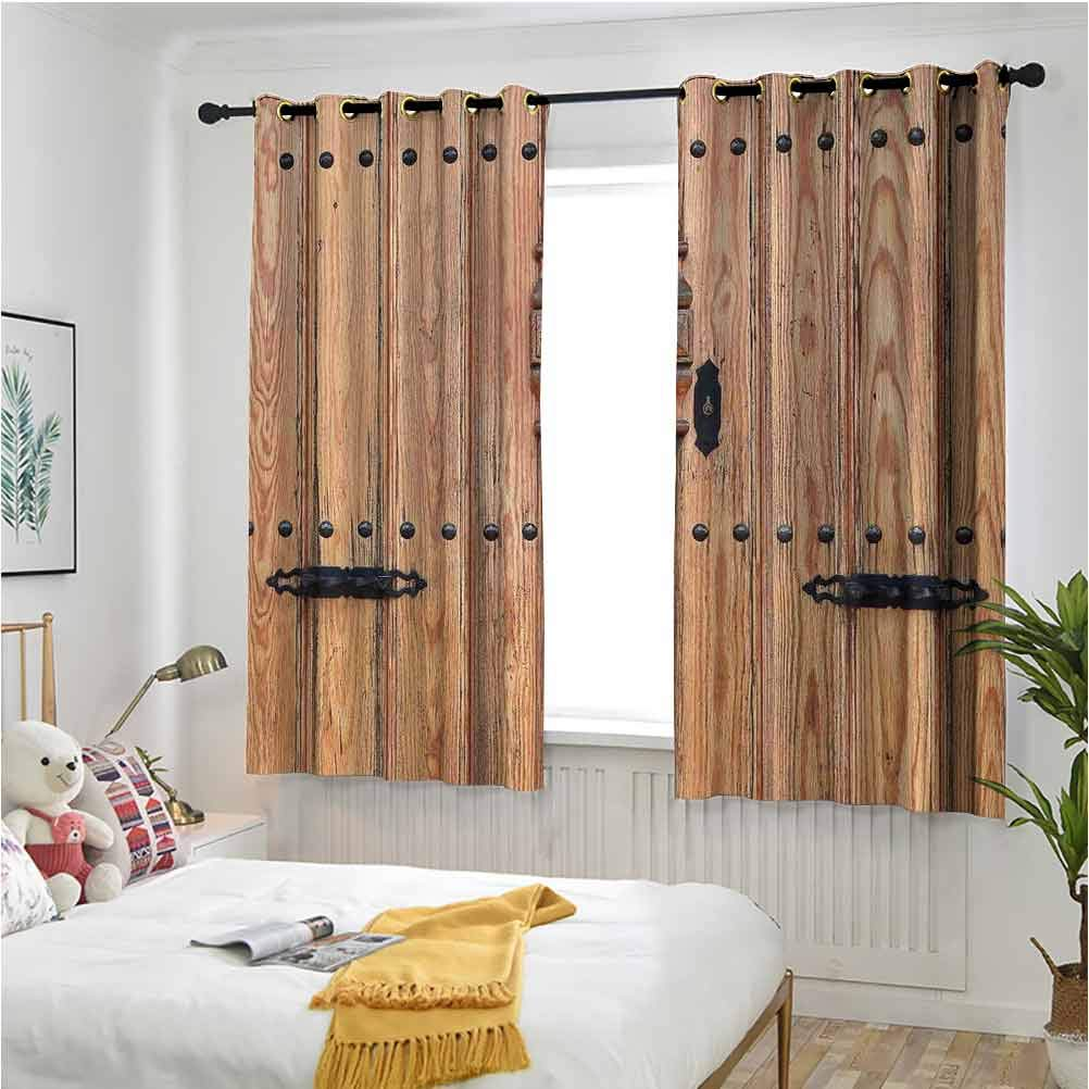 Rustic Now free shipping Window Curtain for Living Room Wooden Challenge the lowest price of Japan ☆ with Iron Door Styl