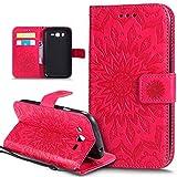 Ikasus - Carcasa de piel sintética, con tapa, tarjetero, cierre magnético, compartimento y función atril para Samsung Galaxy Grand Plus, Grand Neo, Grand Lite, GT-I9060I i9060 i9062 i9082, con diseño