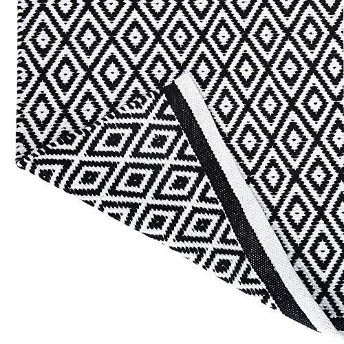clasificación y comparación RAJRANG le ofrece Alfombra Rajasthan Blanco y negro – Alfombra alfombra (86 × 51 cm)… para casa