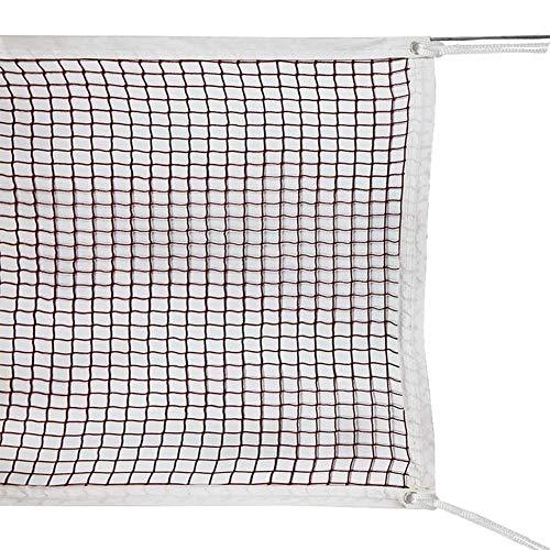 likeitwell Tragbares Badminton-Netz-Set - Netz Für Tennis, Fußballtennis, Kinder-Volleyball - Einfache Einrichtung Nylon-Sportnetz Mit Stangen - Für Innen- Oder Außenplätze (6,1 m Mit Säumen)