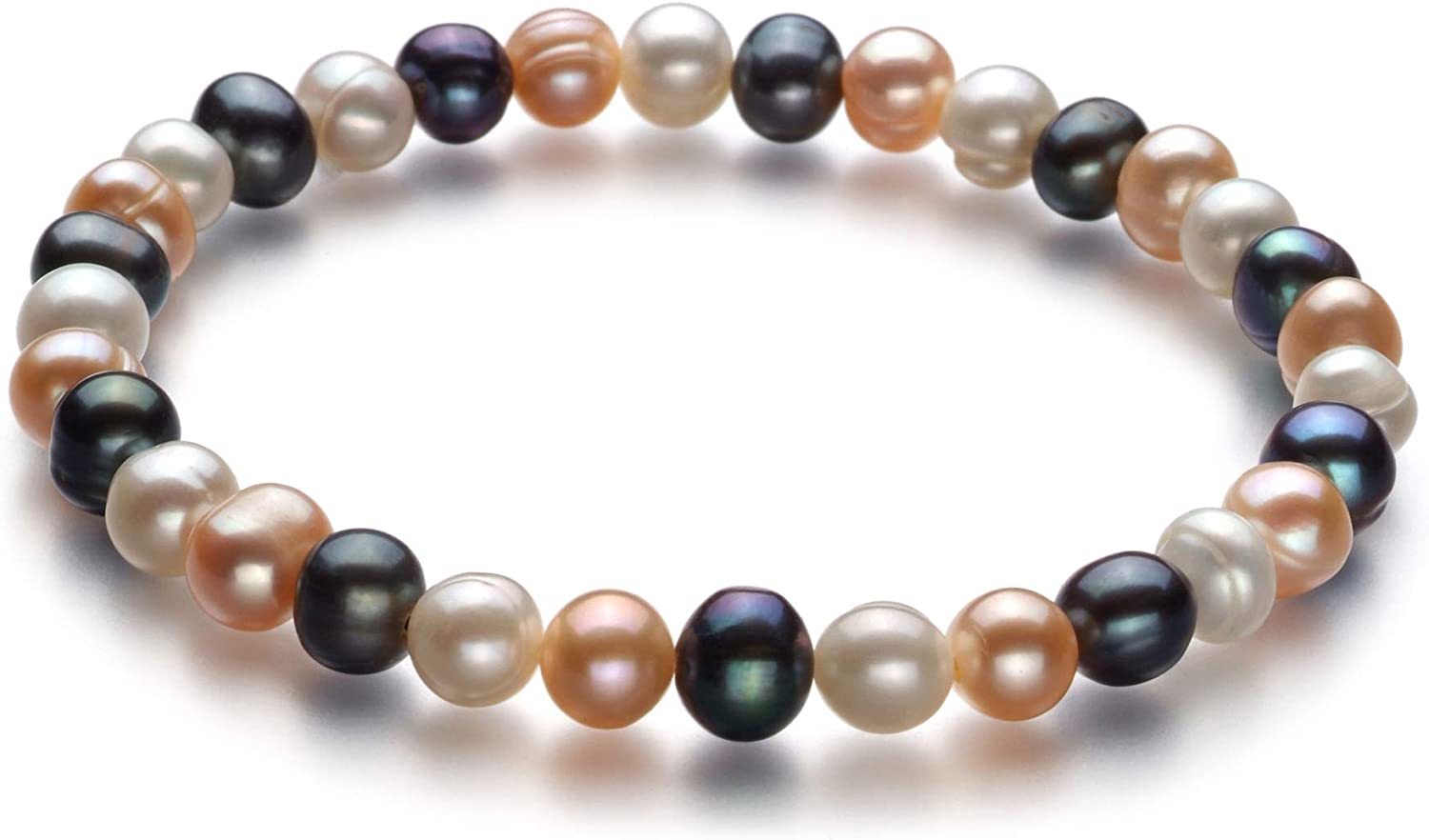 Bliss Multicolor 6-7mm Finally resale start A Quality Now on sale Cultured Brace Pearl Freshwater