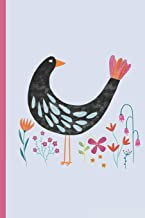 Notes: A Blank Squared Paper Journal with Fancy Bird Pattern Cover Art