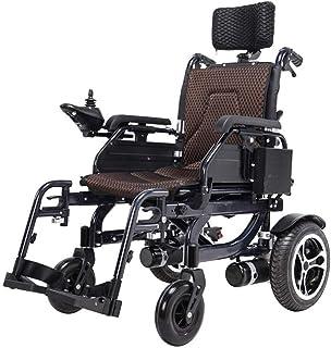 Silla de ruedas eléctrica con cojín for la cabeza, 2020 Nueva plegable remoto sillas de ruedas Travel Adult Light, el transporte aéreo de Seguridad Eléctrica de silla de ruedas, silla de ruedas eléctr
