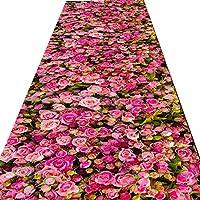 FUSHOU-廊下敷きカーペット滑り止め臭いなし3Dゴージャスカラーフロアマット精密カットエッジ対称多目的廊下用カーペット 、自由にカット,A,60x300cm