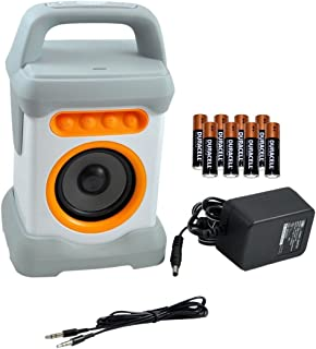 Nexhi Range Bluetooth Wireless Water Resistance Powerful Speaker for Shower, Pool Side with Power Adapter & 8 AA Batteries, 30'