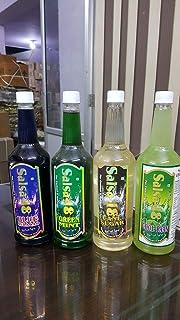 GURU KRIPA Cocktail MOCKTAIL Combo Blue Curacao, Green Mint, Cane Sugar, Cool PAAN (750 ml)