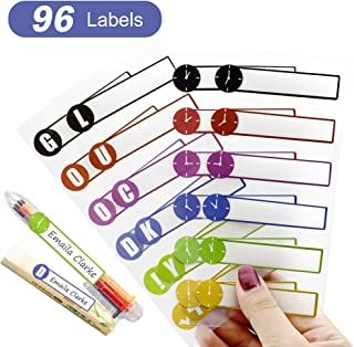 Name Labels Stickers for Kids and Adults, Self Adhesive Baby Bottle Labels,Waterproof,Dishwasher-Safe,Microwave-Safe, BPA-Free, 96 Daycare Labels