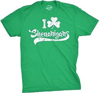 Mens I Clover Shenanigans T Shirt Funny Irish Clover St Saint Patricks Day Tee