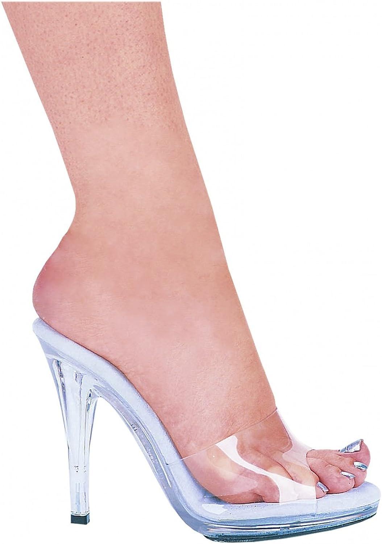 ELLIE 421-VANITY 4.5  Heel Clear Mule , Clear, 6 Size