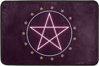 COOSUN Pentagram Doormat, Entry Way Indoor Outdoor Door Rug with Non Slip Backing, (23.6 by 15.7-Inch)