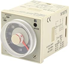 Knob Time Relay, H3CR-A8 1.2S-300H 100-240V AC 100-125V DC 8-Pin Delay Timer Relay Knob Control Time Relay for Automatic Control,Mechatronic,etc