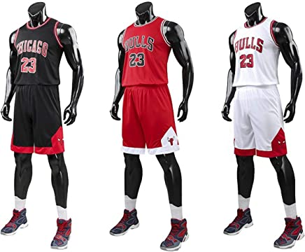 64b69de3ff2e4 unbrand Enfant garçon NBA Michael Jordan # 23 Chicago Bulls Short de Basket- Ball Retro