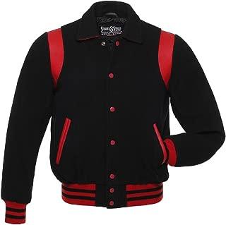 Retro Varsity Letterman Jackets (11 Team Colors) Wool & Leather XXS to 6XL