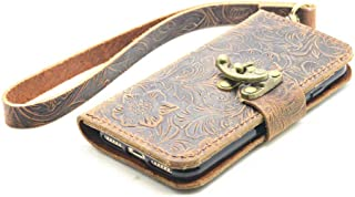 JJNUSA Handmade Genuine Distressed Leather Wallet Case for Google Pixel 4 XL 6.3 inches Flip Cover