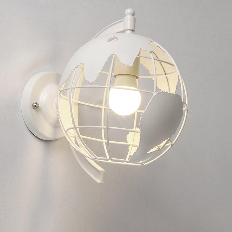 Unbekannt Zhang-Wandleuchte- Nordic Creative Iron Wandlampe Modernes, einfaches Wohnzimmer mit Balkon mit Schlafsofa Wandlampe (Farbe optional) - Wandbeleuchtung Dekoration (Farbe   Wei)