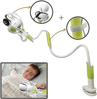Soporte Universal para Cámara de Bebé 85cm Sostenedor de Vigilabebés con Correas Accesorios de Baby Monitor con Manguera Flexible Compatible con La Mayoría de Los Monitores para Bebés Verde BP139