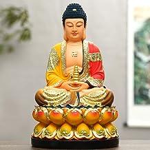 Statue Sculptures Resin Coloured Clothes of Sakyamuni Buddha Buddha Weighing 5 Kg Buddha Statue-Pharmacist_Buddha_19Inch_4...