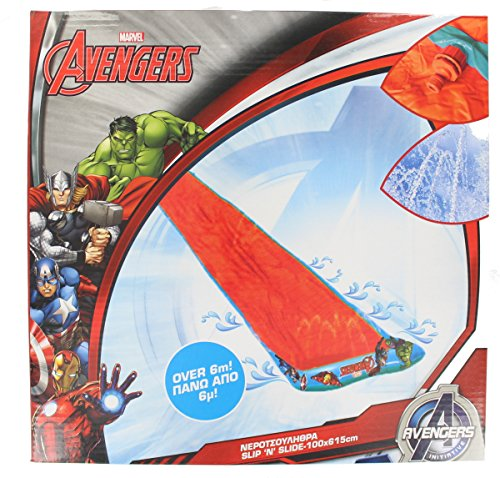 Marvel Avengers 6 metre Slip and Slide Water Slide with Sprinklers