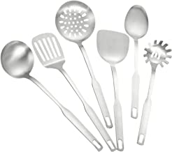 CALIDAKA 6 Pcs Stainless Kitchen Utensil Set, Non-Stick Heat Resistant Kitchen Gadgets Cooking Utensil Set with Spatula, S...