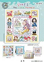 SO-3218 The Little Mermaids, SODA Cross Stitch Pattern leaflet, authentic Korean cross stitch design chart color printed on coated paper