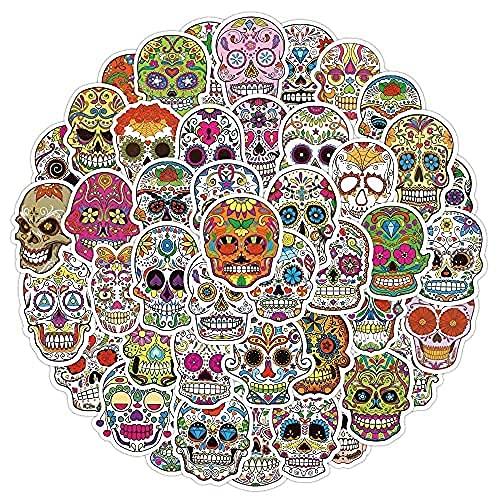 YACHAO 50 Pz Horror Skull Sticker Bagaglio Trolley Caso Laptop Skateboard Chitarra Casco Cellulare Graffiti Adesivi