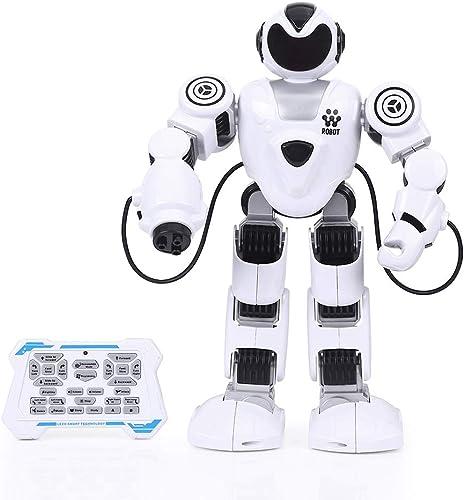 HshDUti RC Wiederaufladbarer Programmierbarer Roboter im Kampf, Musik Licht Intelligent Kinder Spielzeug schwarz+Weiß