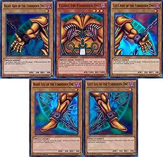 Qiyun Yugioh Set of All 5 Exodia Cards Yugis Legendary Decks Ygld Ultra RARE Mint