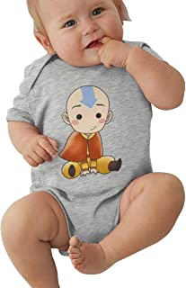 Lemonationop Avatar The Last Legend Airbender of Korra Aang Baby Unisex Jersey Bodysuit Gray