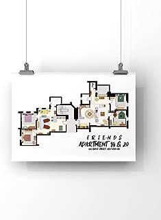 Friends Tv show Apartment Floor Plan- Friends tv show Layout